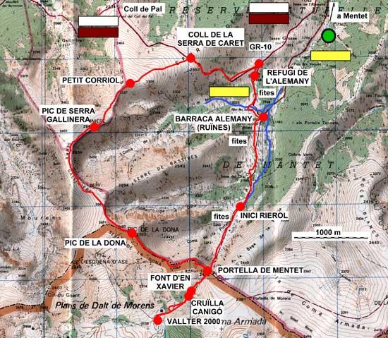 Plànol recorregut de la ruta Volta a la Serra de Bacivers